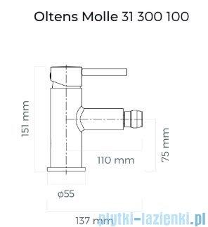 Oltens Molle bateria bidetowa czarny mat 31300300