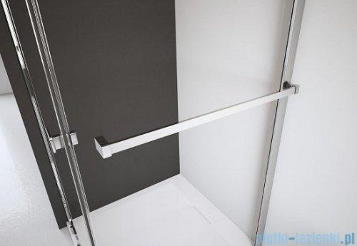 Radaway Arta Kds I kabina 120x80cm lewa szkło przejrzyste + brodzik Doros D + syfon wieszak na ręcznik
