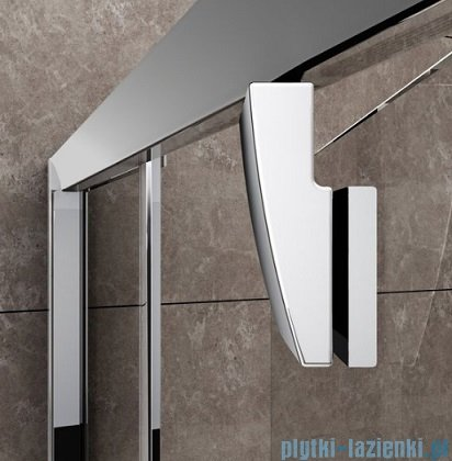 Ravak Drzwi prysznicowe obrotowe Pivot PDOP1-90 białe/białe transparent 03G70101Z1