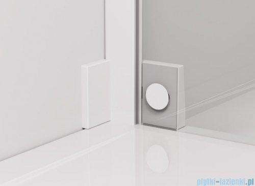SanSwiss Cadura White Line drzwi wahadłowe 100cm jednoczęściowe lewe z polem stałym biały mat CA13G1000907