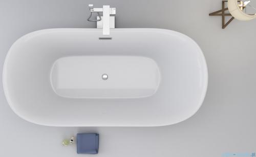 Corsan Olvena wanna wolnostojąca 169x79 cm biała + syfon E-041BXL