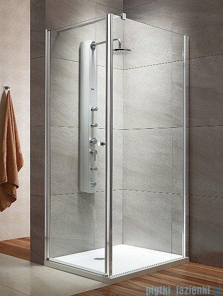Radaway Eos KDJ kabina prysznicowa 80x100 lewa szkło przejrzyste + brodzik Doros D + syfon
