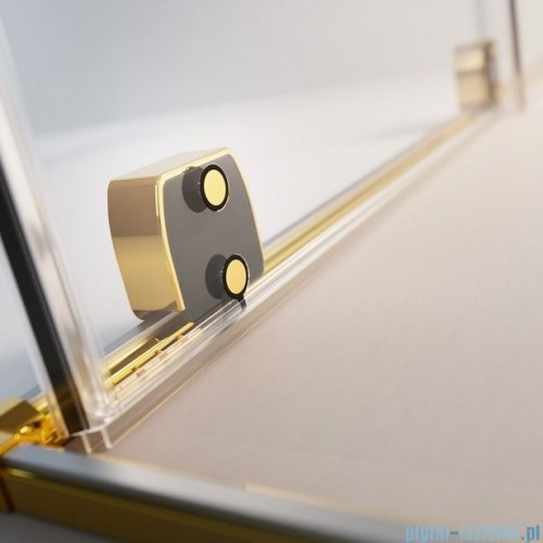 Radaway Furo Gold  Kdj kabina 160x120cm prawa szkło przejrzyste 10104822-09-01R/10110780-01-01/10113120-01-01