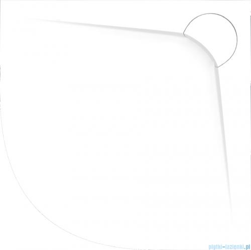 Vayer Bumerang 80x80cm Brodzik półokrągły z konglomeratu marmurowego