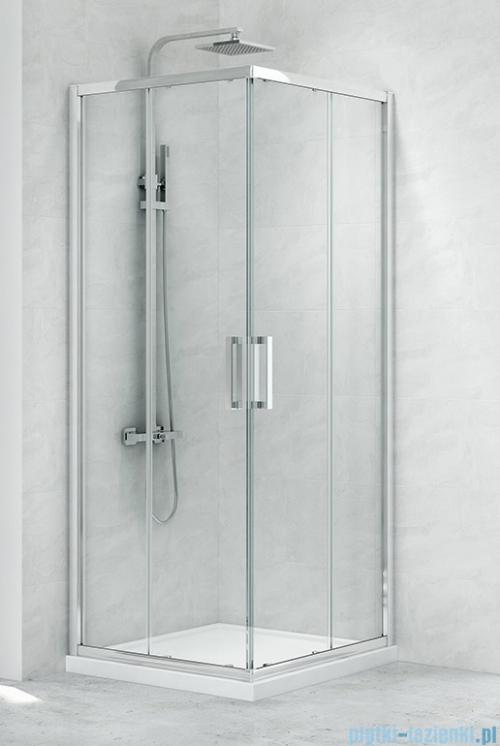 New Trendy New Praktic Kabina prysznicowa kwadratowa z drzwiami przesuwnymi 90x90x195 przejrzyste