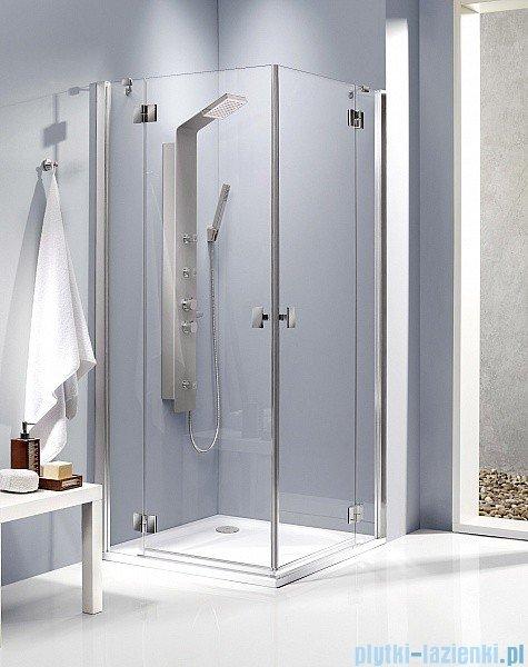 Radaway Kabina prysznicowa Essenza KDD 100x80 szkło brązowe + brodzik Doros D + syfon