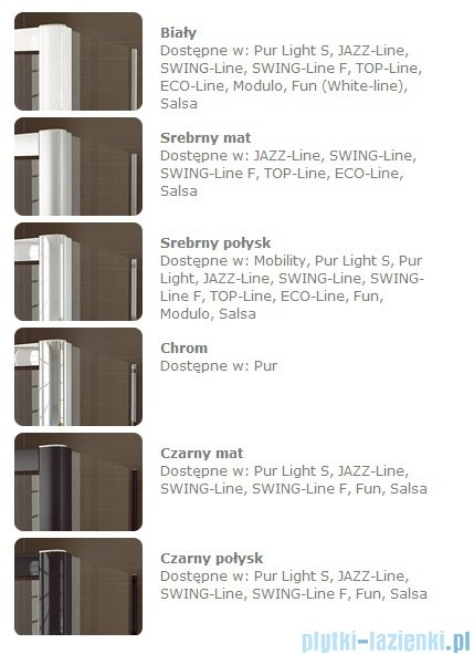 SanSwiss Swing Line F SLF1 Drzwi dwuczęściowe 50-100cm profil biały Lewe SLF1GSM10407