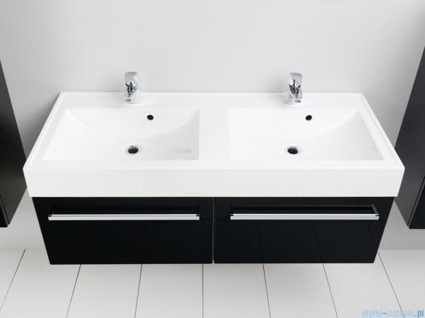 Antado Variete szafka z umywalką, wisząca 120 czarny połysk FM-442/6-9017 + FM-442/6-9017 + UNAM-1204D
