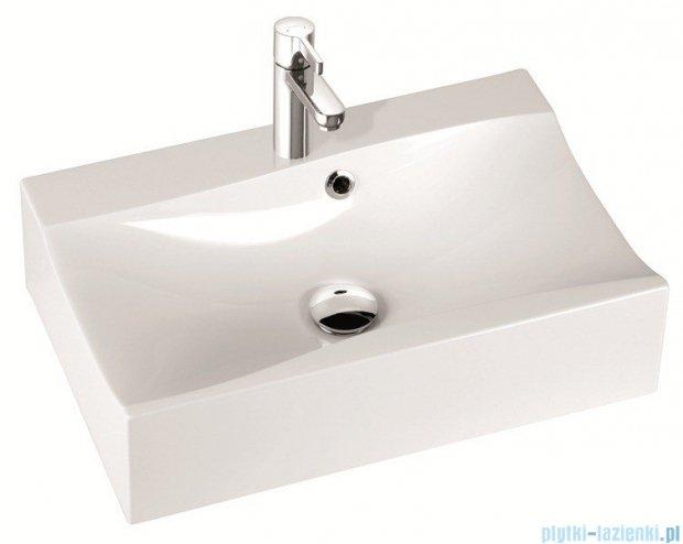 Marmorin umywalka nablatowa Iva 60cm bez otworu biała 220060022010