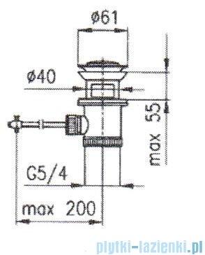 KFA Spust sterowany do baterii stojących chrom 660-054-00