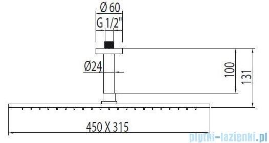 Tres Głowica do mocowania sufitowego kolor chrom 299.432.03
