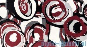 Dekor ścienny Tubądzin Colour Hoop Carmine 32,7x59,3
