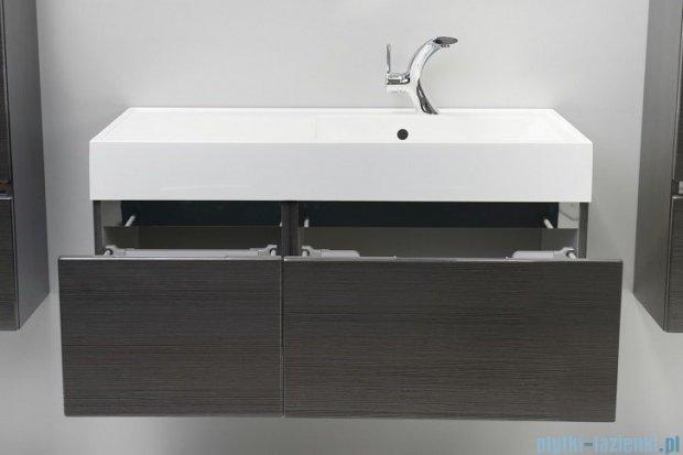 Antado Cantare szafka z umywalką prawą 100x50x33 grafit (fino) FSM-342/6GT-46/46+FSM-342/4GT-46/46+UNAM-1004P