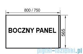 Ravak Panel boczny A 80 + panelkit do wanien CZ00140A00