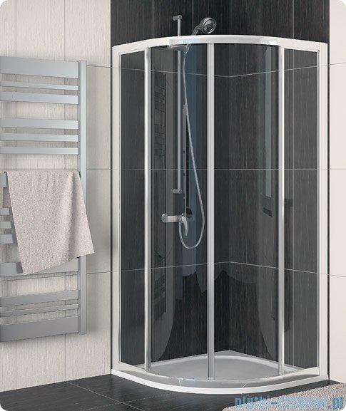 SanSwiss Eco-Line Kabina półokrągła Ecor 90cm profil biały szkło przejrzyste ECOR500900407