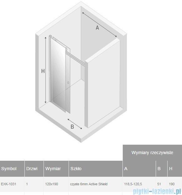 New Trendy Diora drzwi prysznicowe 120  EXK-1031