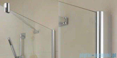 Kermi Diga Ściana boczna, szkło przezroczyste, profile biel 110x200cm DITWD110202AK
