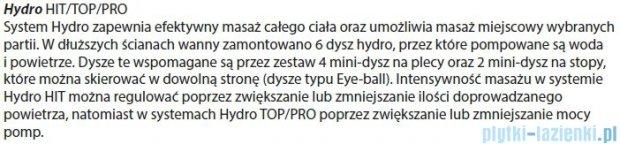 Riho Geta Wanna asymetryczna 170x90 prawa z hydromasażem PRO Hydro 6+4+2 BA88P6