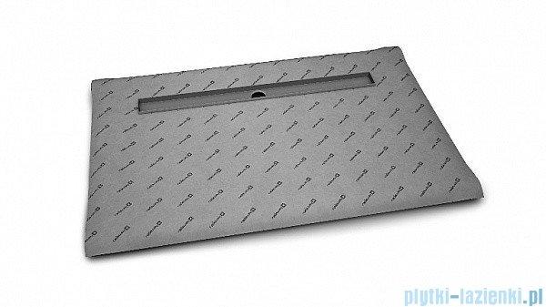 Radaway brodzik podpłytkowy z odpływem liniowym Steel na dłuższym boku 169x79cm 5DLA1708A,5R115S,5SL1