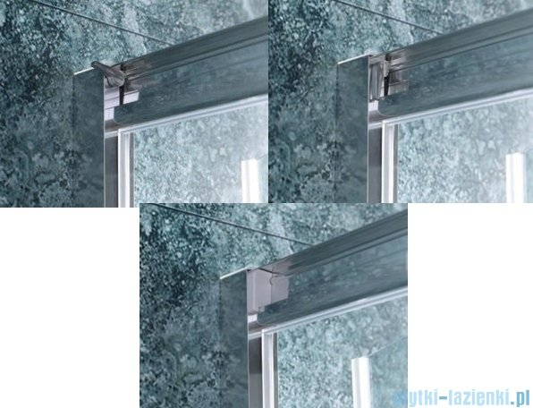 Omnires kabina kwadratowa 90x90x190cm szkło przezroczyste NDC90X
