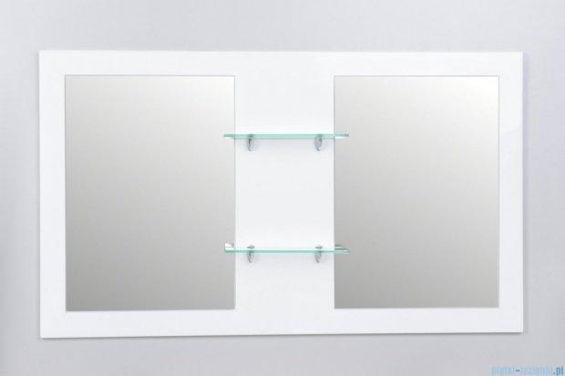 Antado Sycylia Lustro podwójne z półkami 136x80 biały połysk KTS-L2-80x136-WS
