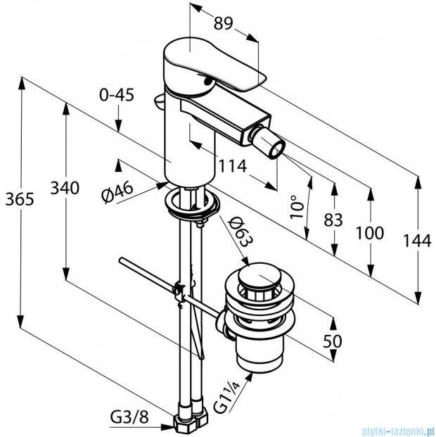 Kludi Tercio Jednouchwytowa bateria bidetowa DN 10 chrom 384320575