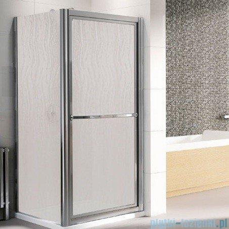 Novellini Drzwi prysznicowe obrotowe do wewnątrz LUNES O 84 cm szkło przejrzyste profil srebrny LUNESO84-1B
