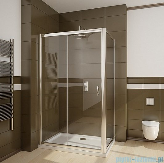 Radaway Premium Plus DWJ+S kabina prysznicowa 100x80cm szkło fabric 33303-01-06N/33413-01-06N
