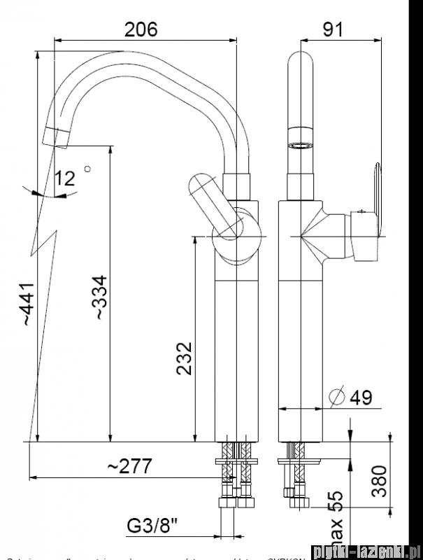 KFA Cyrkon bateria umywalkowa nablatowa, kolor decorum 582-732-00