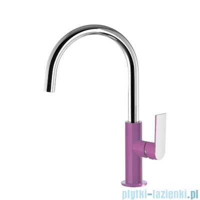 Tres Loft Colors Bateria umywalkowa z korkiem automatycznym kolor fioletowy 200.205.05.VI.D