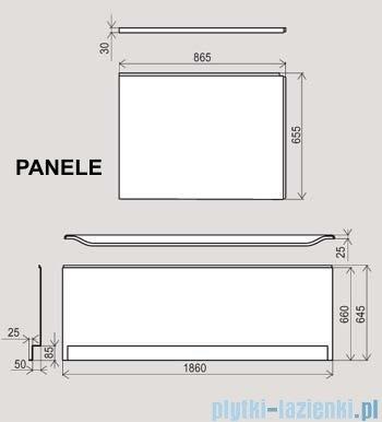 Ravak Panel czołowy do wanny You 185x75cm CZ011Z0A00
