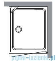 Kerasan Kabina prostokątna lewa, szkło piaskowane profile chrom 80x96 Retro 9143S0