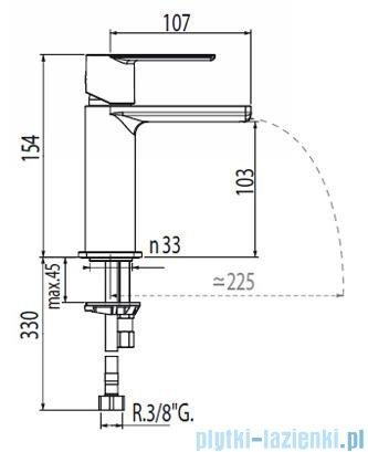 Tres Loft-Tres Bateria umywalkowa kolor chrom 200.110.01