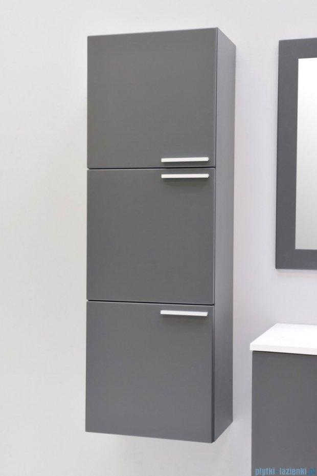 Antado Sycylia szafka wisząca 3-drzwiowa 45x30x135 grafit mat KTS-163-U164