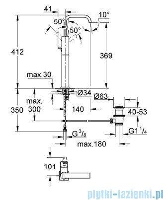 Grohe Allure bateria umywalkowa DN 15 z zestawem odpływowym chrom 32249000