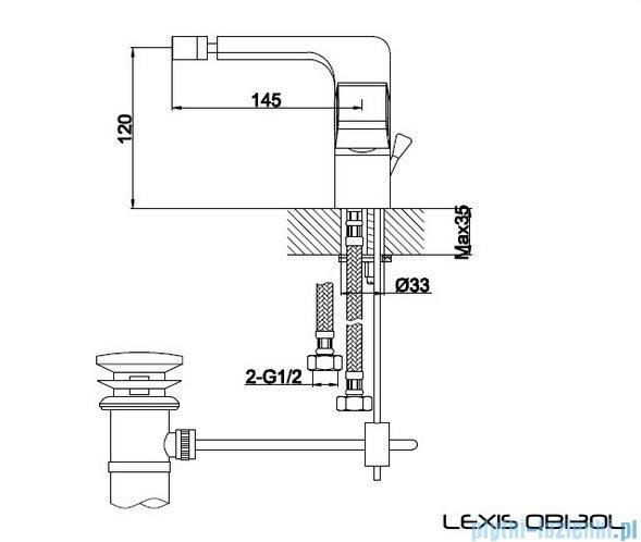 Kohlman Lexis bateria bidetowa QB130L