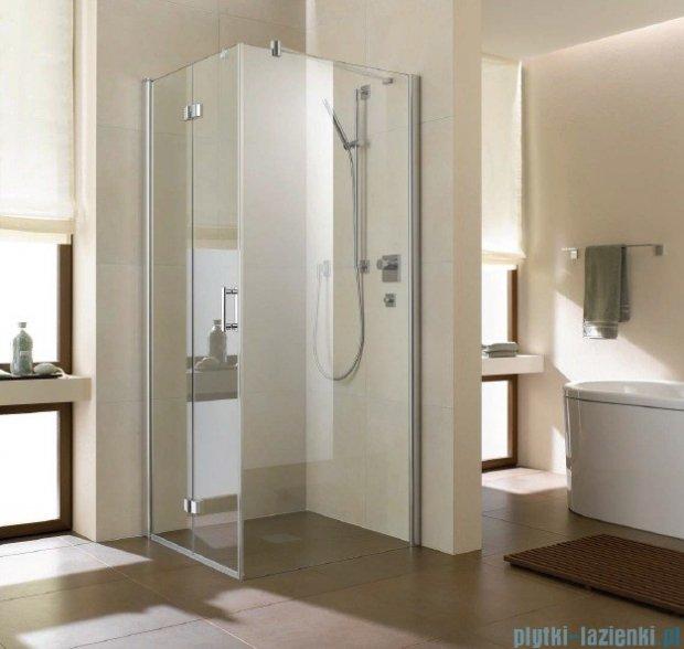 Kermi Diga Ściana boczna, szkło przezroczyste, profile biel 80x200cm DITWD080202AK