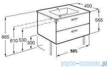 Roca Victoria Basic Zestaw łazienkowy Unik szafka z umywalką 100cm wenge A855851201