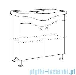 Antado Meva szafka podumywalkowa stojąca 60x34x81 biały połysk BWM-140/65GT-WS