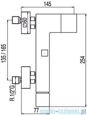 Tres Cuadro-Tres Bateria wannowa kolor stal 5.07.170.02.03