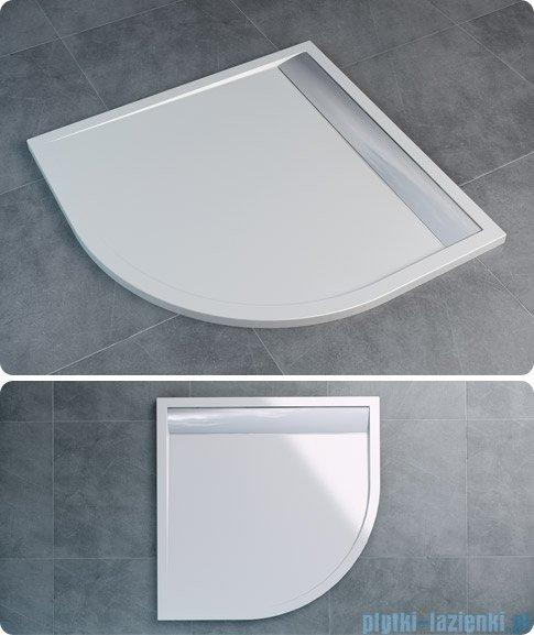 SanSwiss Ila Wir Brodzik półokrągły 80x80cm kolor biały/połysk WIR550805004