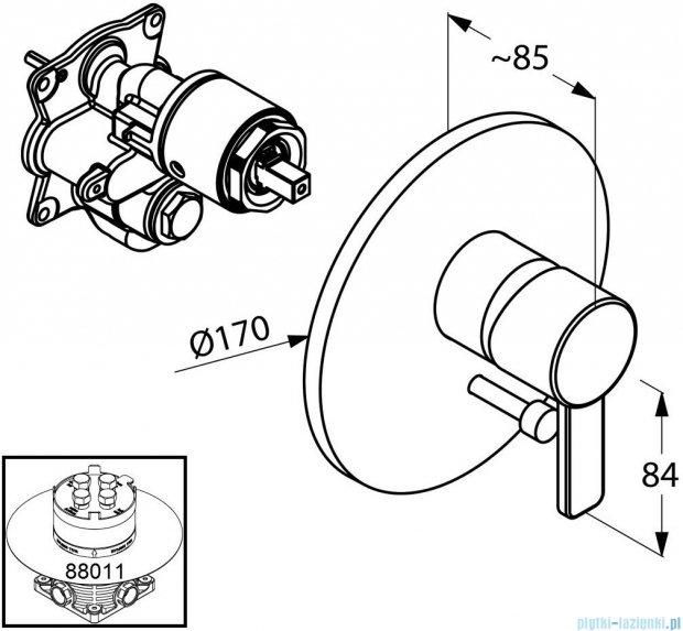Kludi Zenta Podtynkowa bateria wannowo-natryskowa chrom 386500575