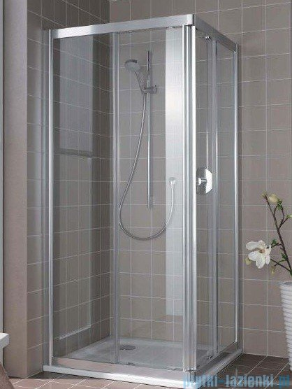 Kermi Atea Wejście narożne prawe, połowa kabiny, szkło przezroczyste, profile srebrne 80x200cm ATC2R08020VAK