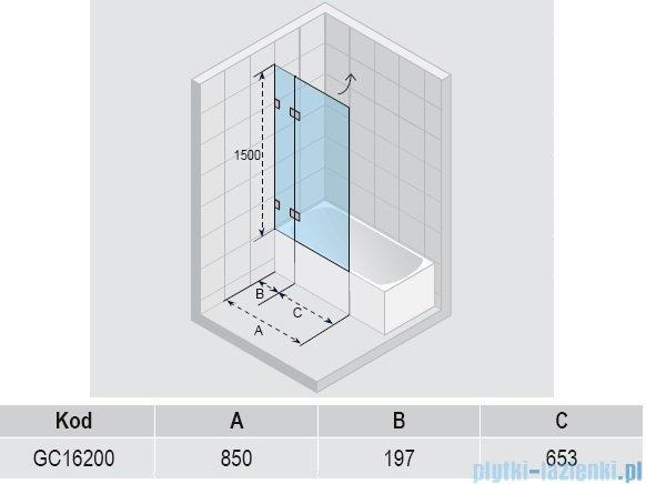Riho Scandic S109 parawan nawannowy 85x150 cm GC16200