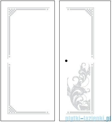 Kerasan Retro Kabina kwadratowa lewa szkło dekoracyjne przejrzyste profile chrom 90x90 9147N0