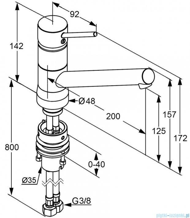 Kludi Scope Jednouchwytowa bateria kuchenna Bajonett DN 10 stal szlachetna 339389675