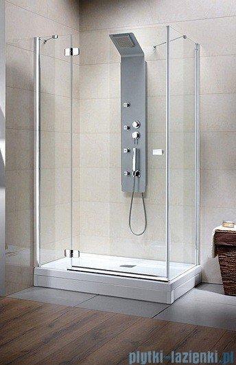 Radaway Kabina prysznicowa Fuenta KDJ 80x80 lewa szkło przejrzyste + Brodzik Argos C + syfon 381039-01L