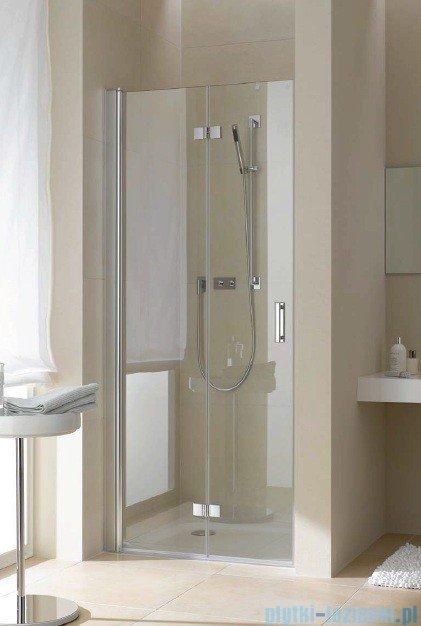 Kermi Diga Drzwi wahadłowo-składane, lewe, szkło przezroczyste, profile srebrne 110x200 DI2DL11020VAK