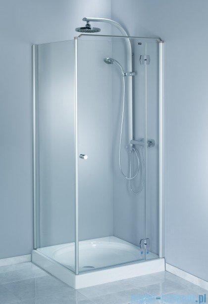 Aquaform Sol drzwi kabinowe do montażu ze ścianką De Luxe 100cm szkło przejrzyste prawe 06053