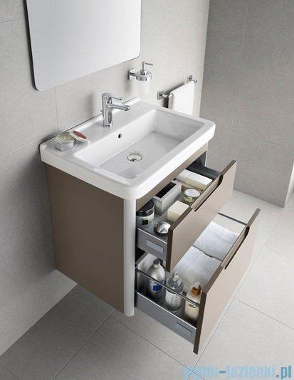 Roca Dama-n Unik 65 zestaw łazienkowy z 2 szufladami Szary antracyt połysk A851047153